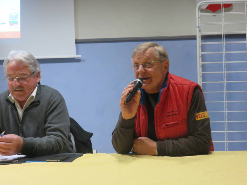 Jean-Claude Ruer a pris la parole lors de l'assemblée générale de Gérardmer Animation.