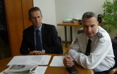 Le procureur de la République Etienne Manteaux et le directeur départemental de la sécurité publique, Patrick Roussel.