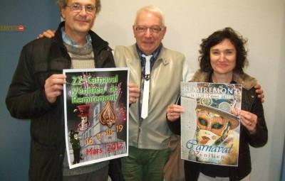 Pascale Naudin et Robert Azzolina félicités par le président Yves Chrétien