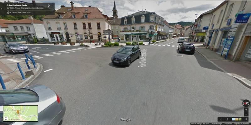 Les lieux du drame au centre-ville du Thillot.