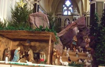 A la crèche de l'abbatiale, l'Enfant-Jésus prendra place lors de la veillée du 24 décembre