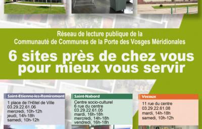 Affiche 6 médiathèques CCPVM