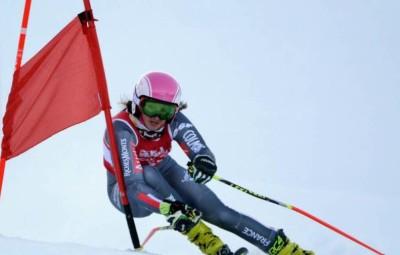 Doriane Escane, 2e de ce second slalom géant,  reste leader du classement général de la coupe de France.