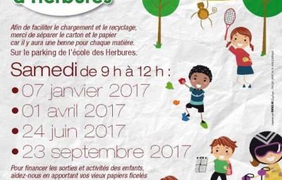 Les Herbures ramassage Papiers2017