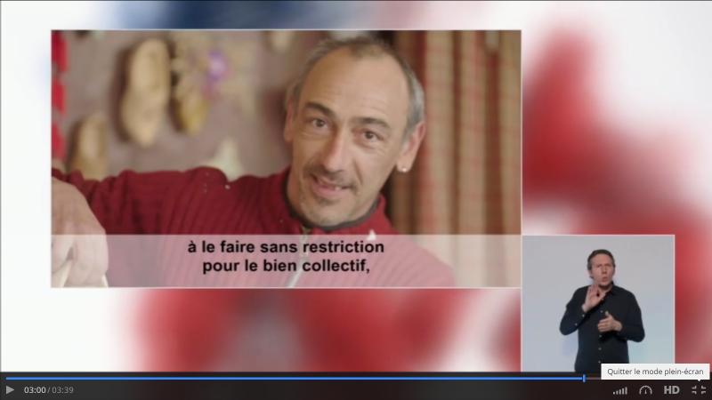 Jean-Yves Millotte sabotier à La Bresse.