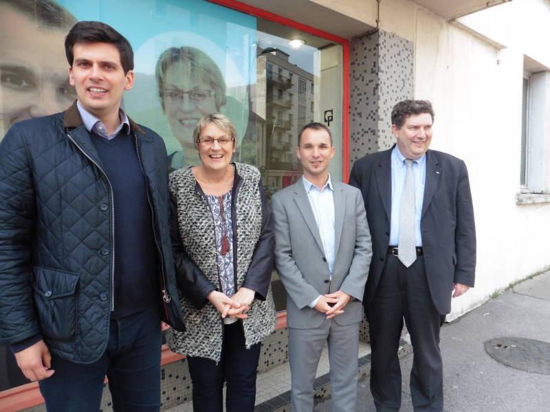 Jean Hingray, Nadine Perrin, Christophe Naegelen et Dominique Peduzzi.