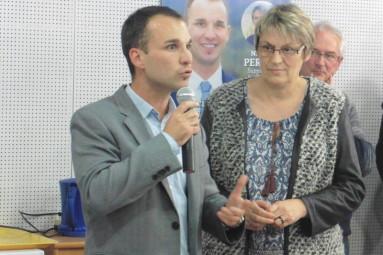 Christophe Naegelen et Nadine Perrin.