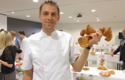 Matthieu Hocquaux du Val d'Ajol, remporte le prix du meilleur croissant vosgien.