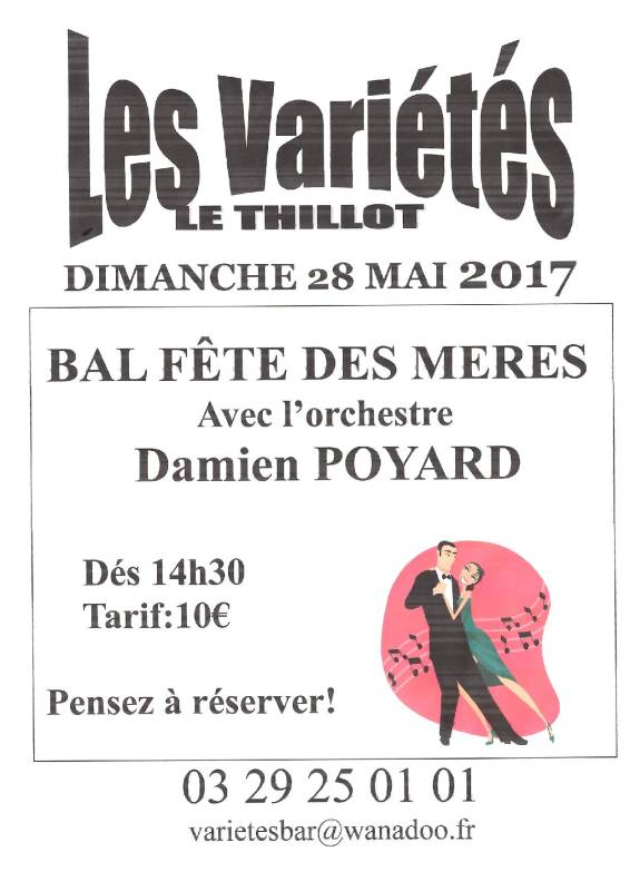 Le thillot bal de la f te des m res dimanche 28 mai 2017 remiremont info - Fete des meres 2017 ...
