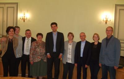 Le maire, les adjoints et conseillers délégués.