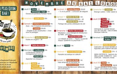 programme novembre au gai luron café culturel