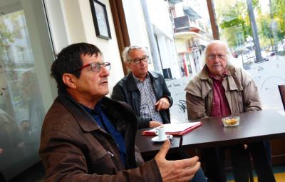 Eric Defranoux, Jean-François Fleck et Christian Villaume de l'association Vosges Nature Environnement.