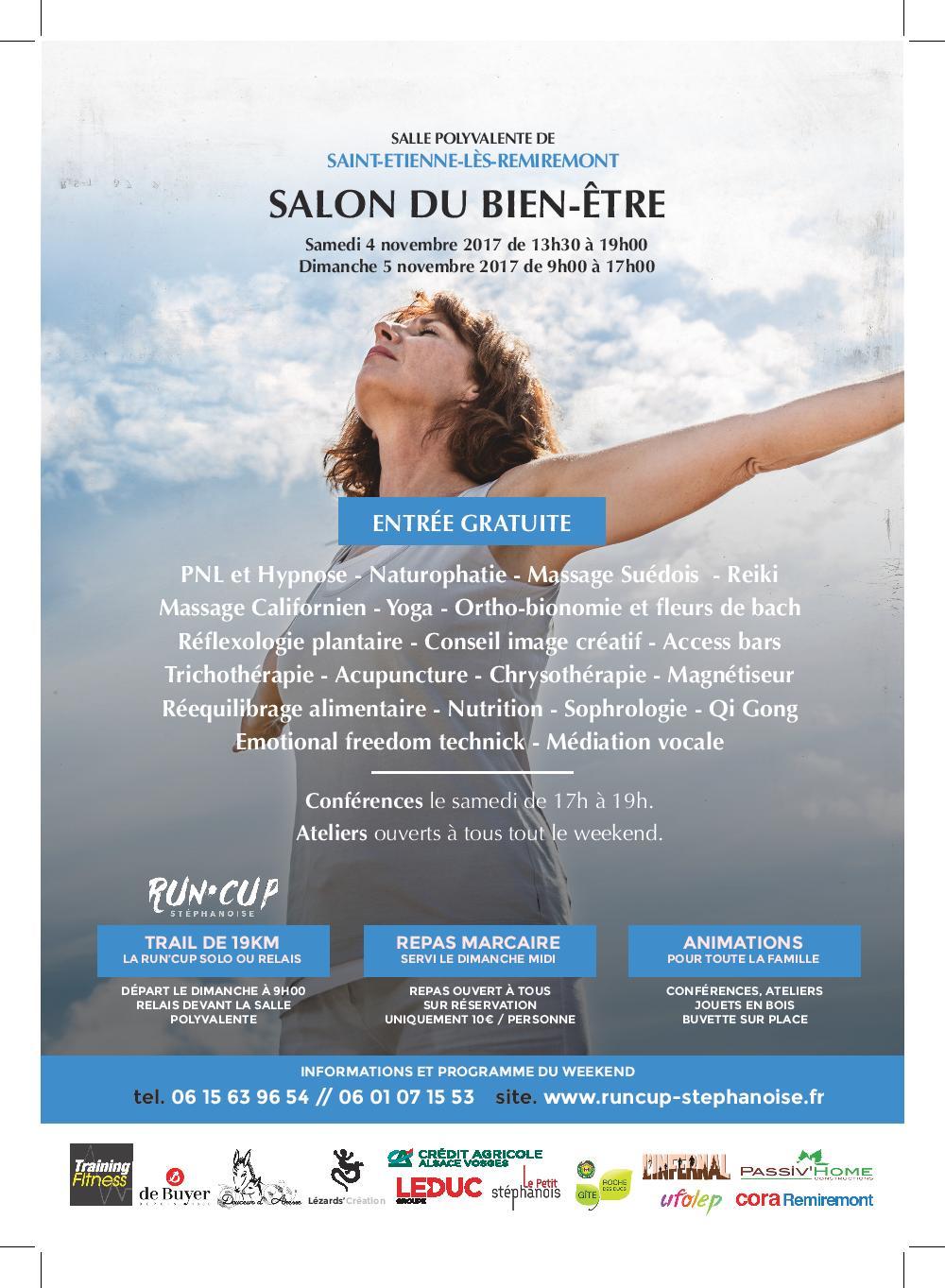 Saint etienne l s remiremont salon du bien tre samedi 4 - Les jardins du bien etre saint etienne ...