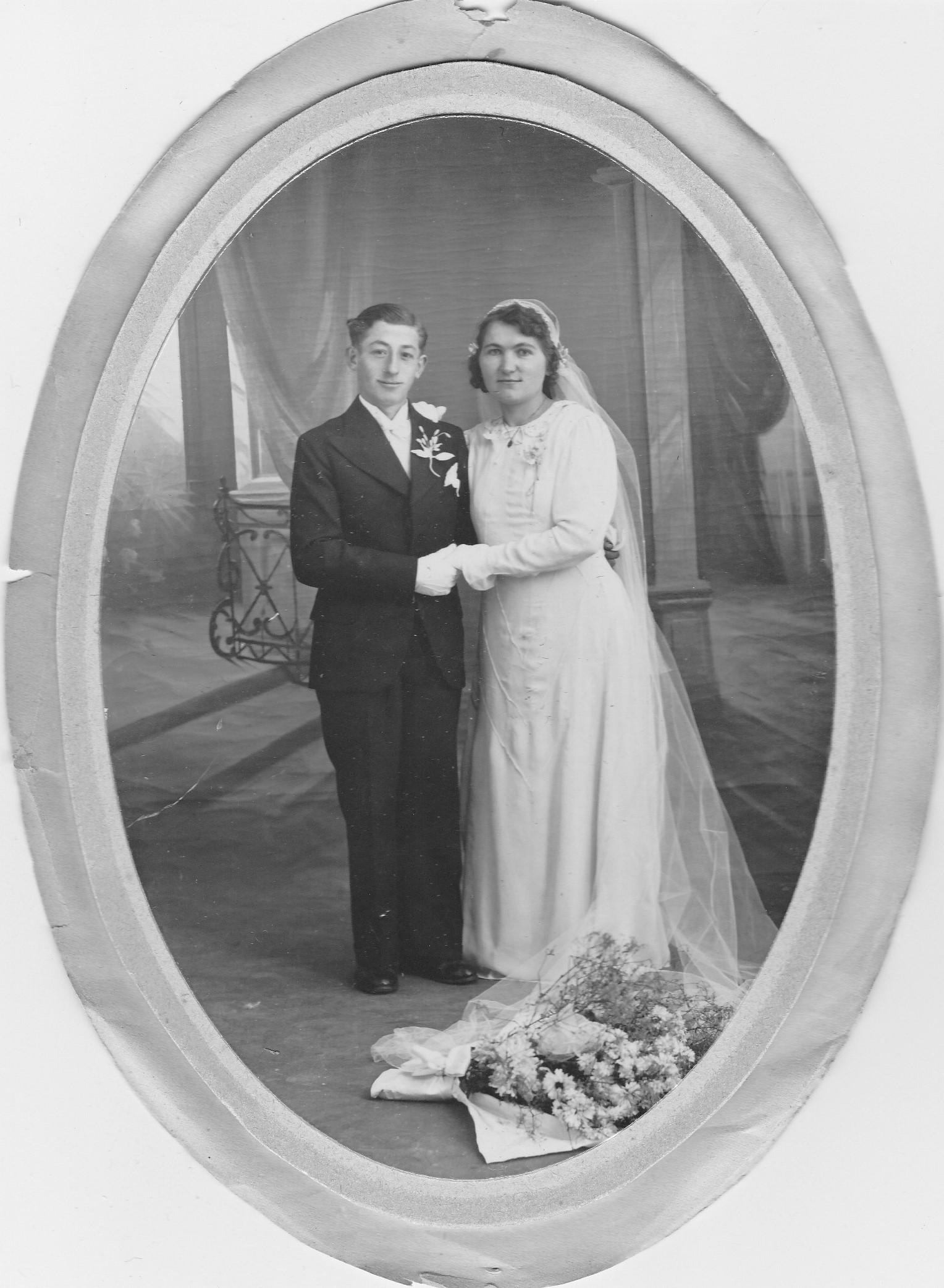 Mariage Solange et Paul le  1942
