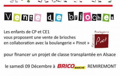 visuel vente brioches bricomarché samedi 9 décembre 2017