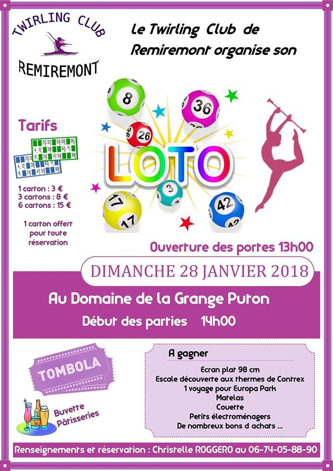 Loto du Twirling-Club