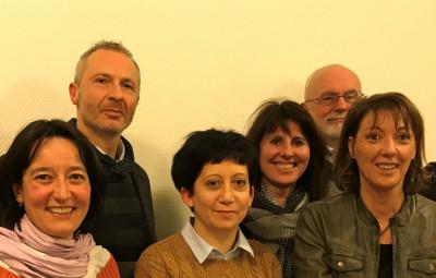 De gauche à droite: Yannick Antoine, Hélène Grandgirard, Marc Thiébaut, Aurélie Richard, Laetitia Daubigny, Patrick Géhin, Cathy Idoux, Fabrice Gaspard (Hervé Rossel, absent au moment de la photo).