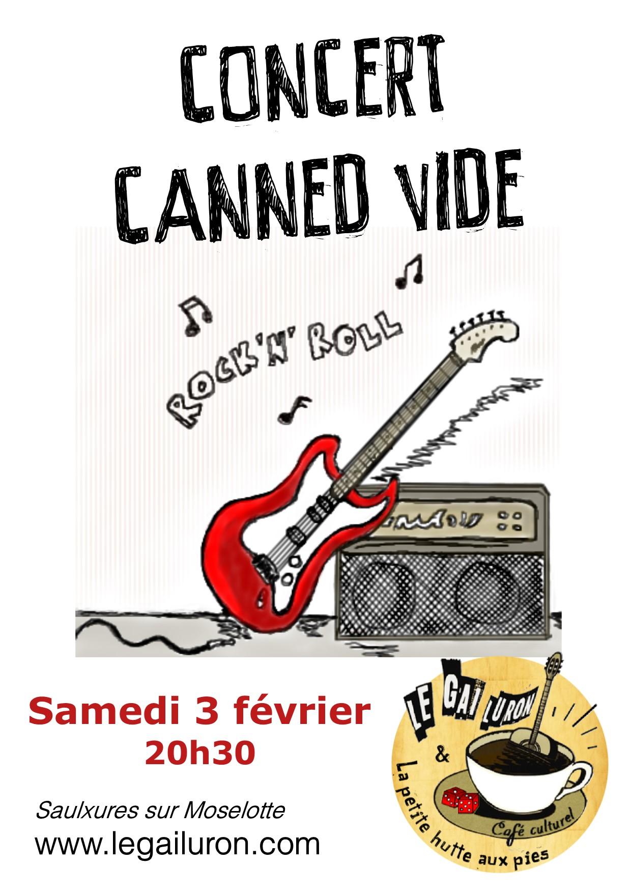 concert canned vide