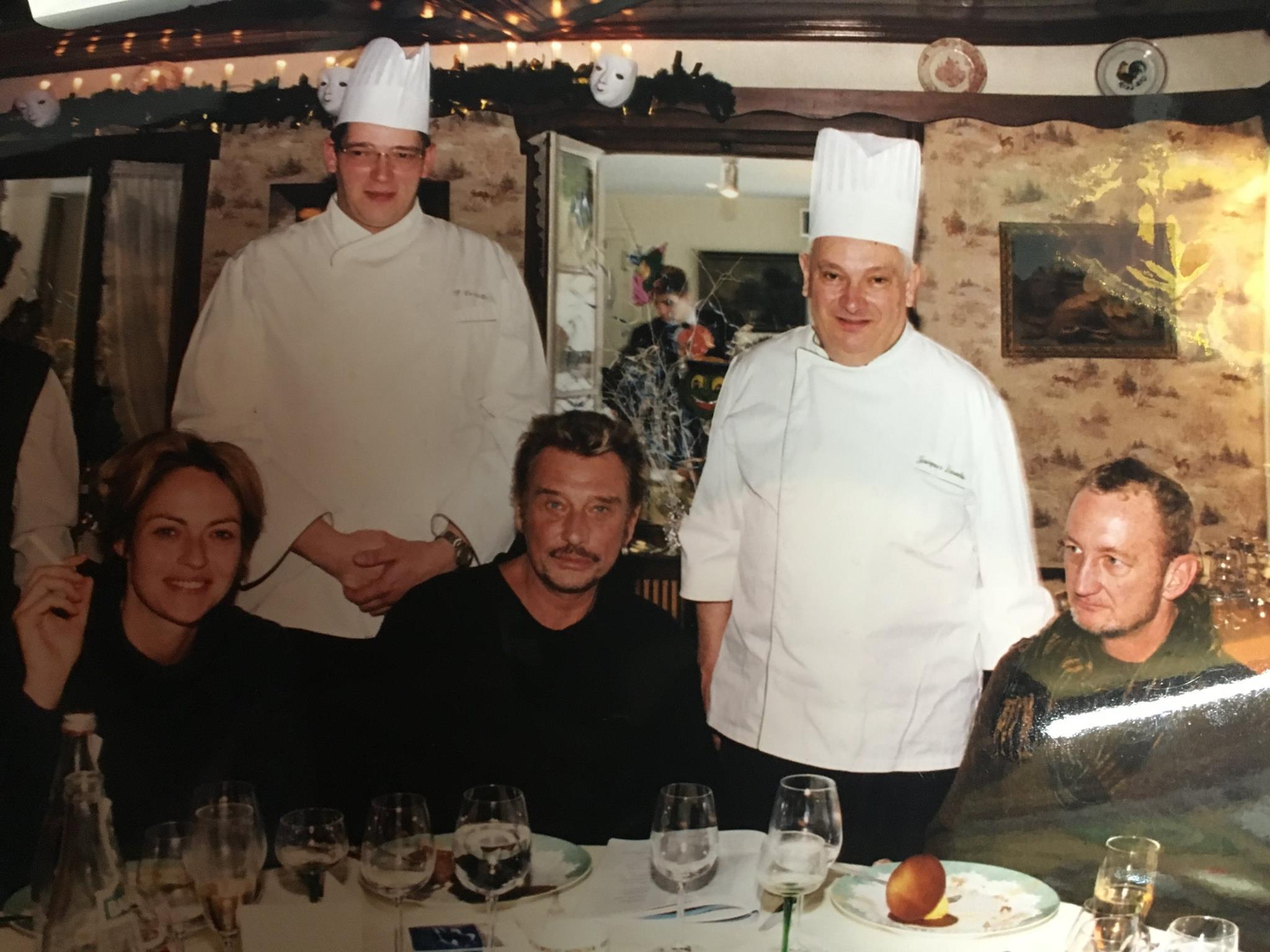 Jacques Laruelle et son fils Philippe avaient notamment accueilli Johnny Halliday à leur table.