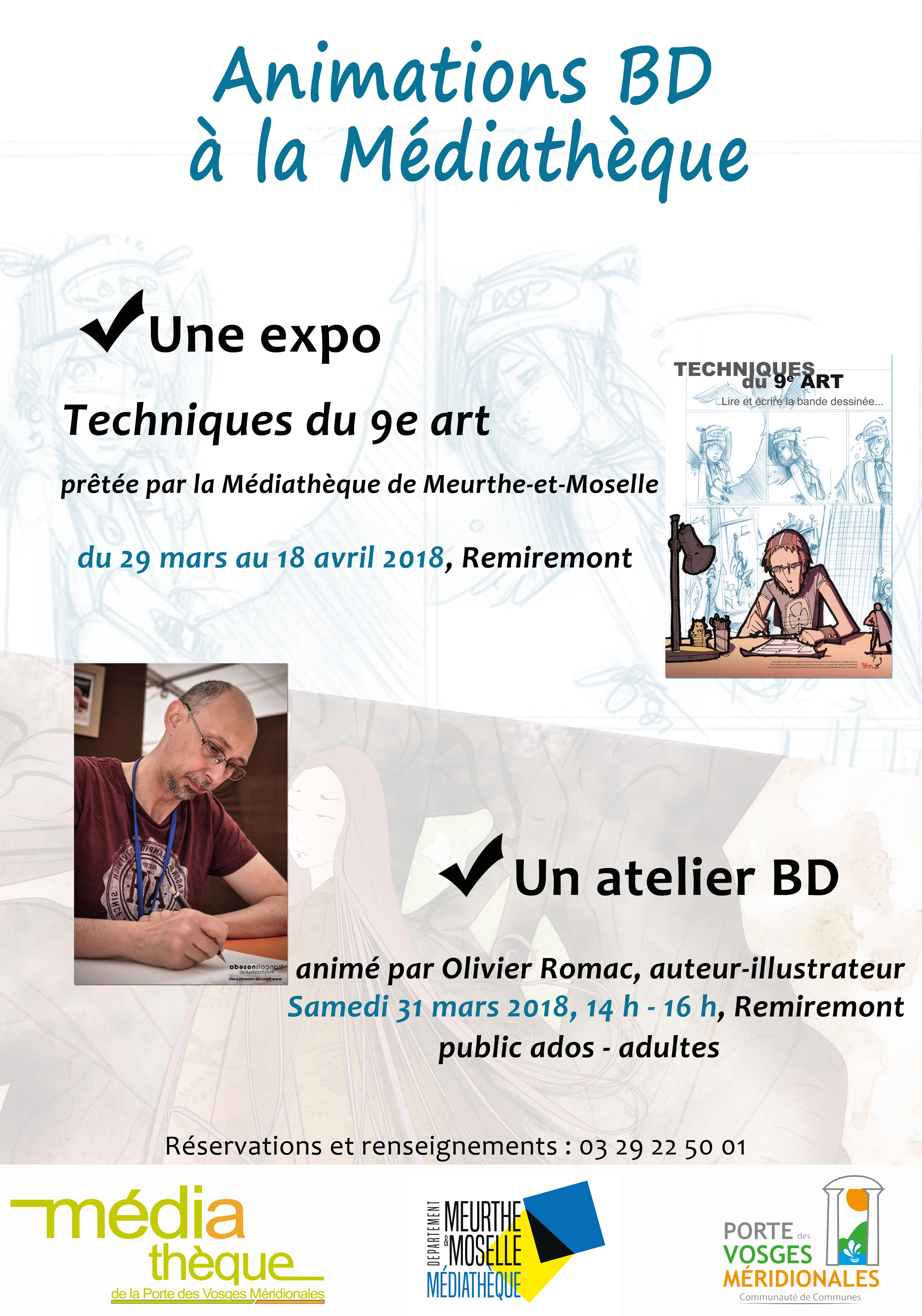 Affiche expo +  atelier