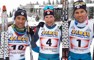Adrien Backscheider champion de France de sprint devant Jean Tiberghien (Savoie) et Richard Jouve (Alpes-de-Provence).