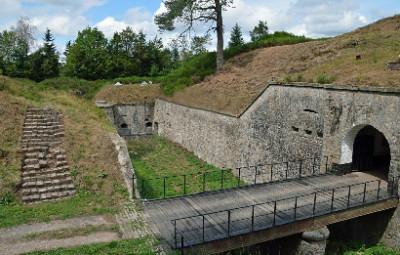 entrée et abords du fort du Parmont