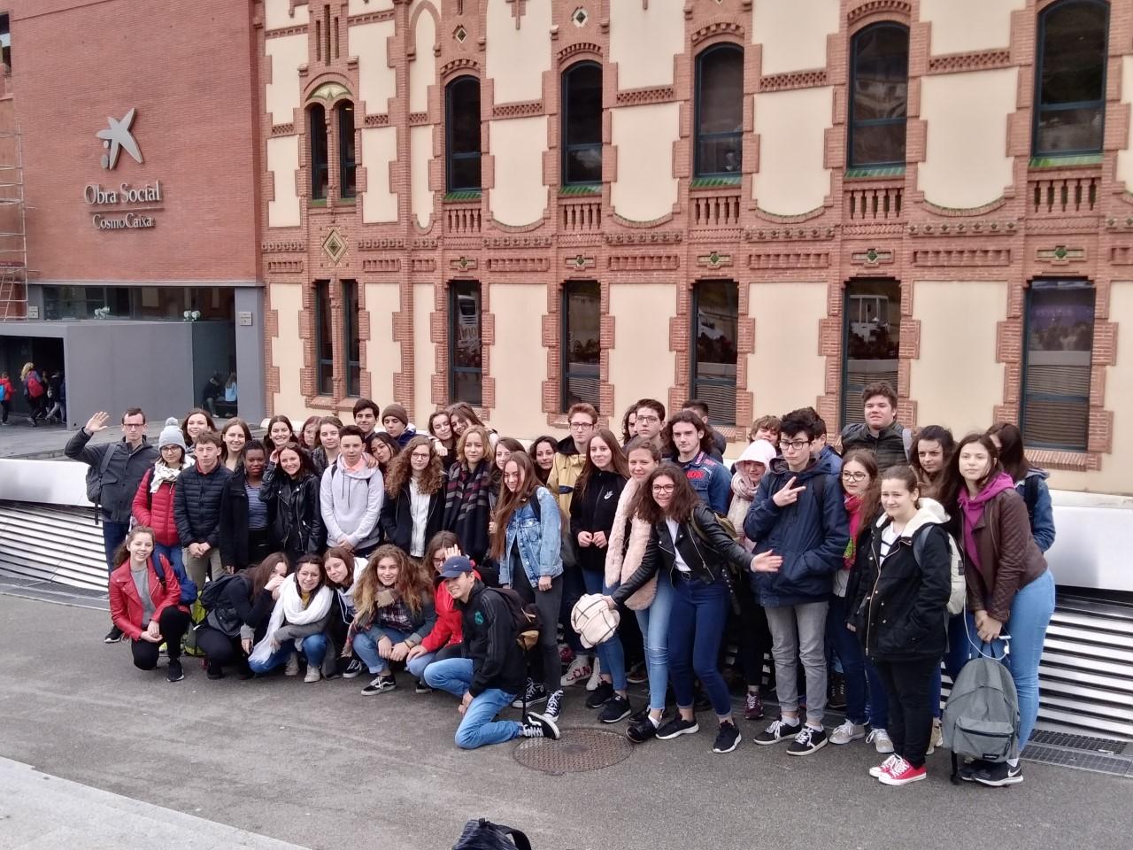 lycéens jeanne d'arc en Espagne