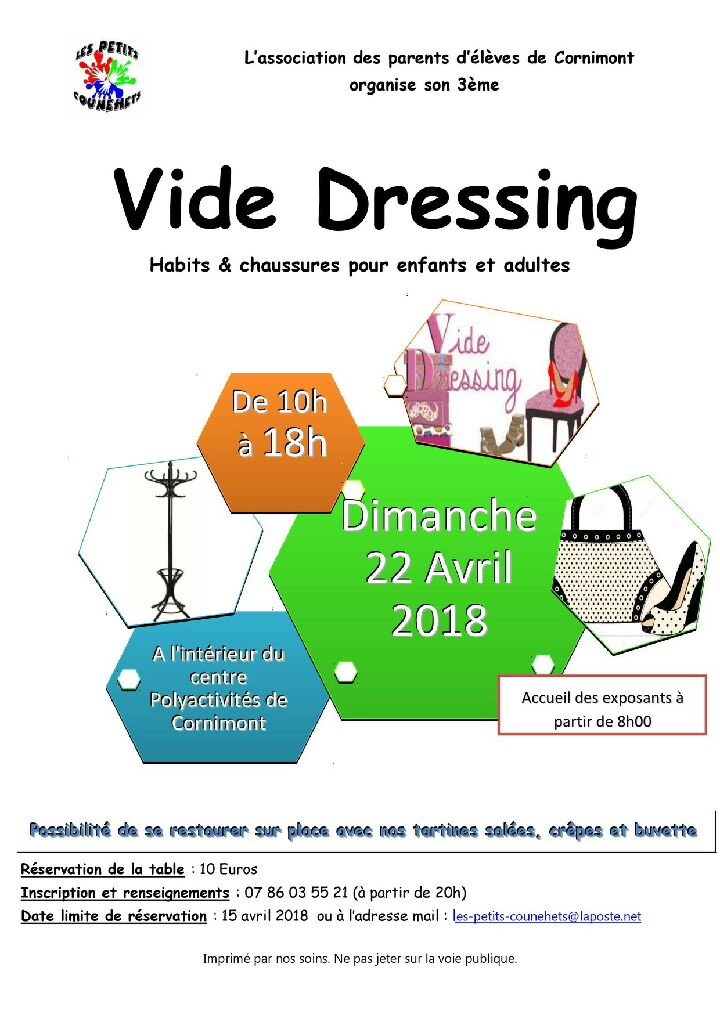 Cornimont vide dressing dimanche 22 avril 2018 for Le vide interieur