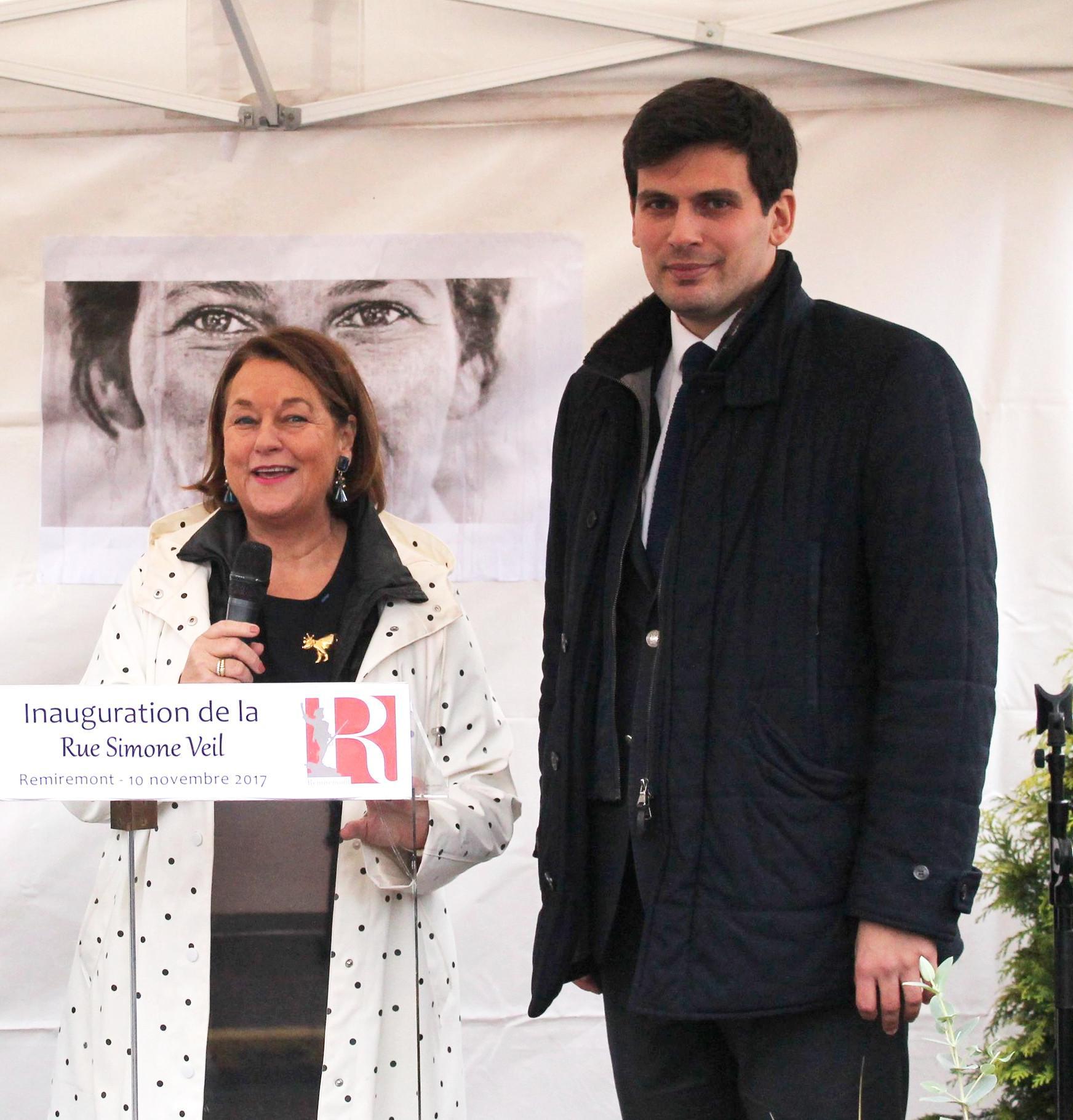 Inauguration de la rue Simone Veil (Novembre 2017) en présence de Nathalie Griesbeck, Députée européenne.