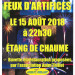Affiche feux d'artifices 2018
