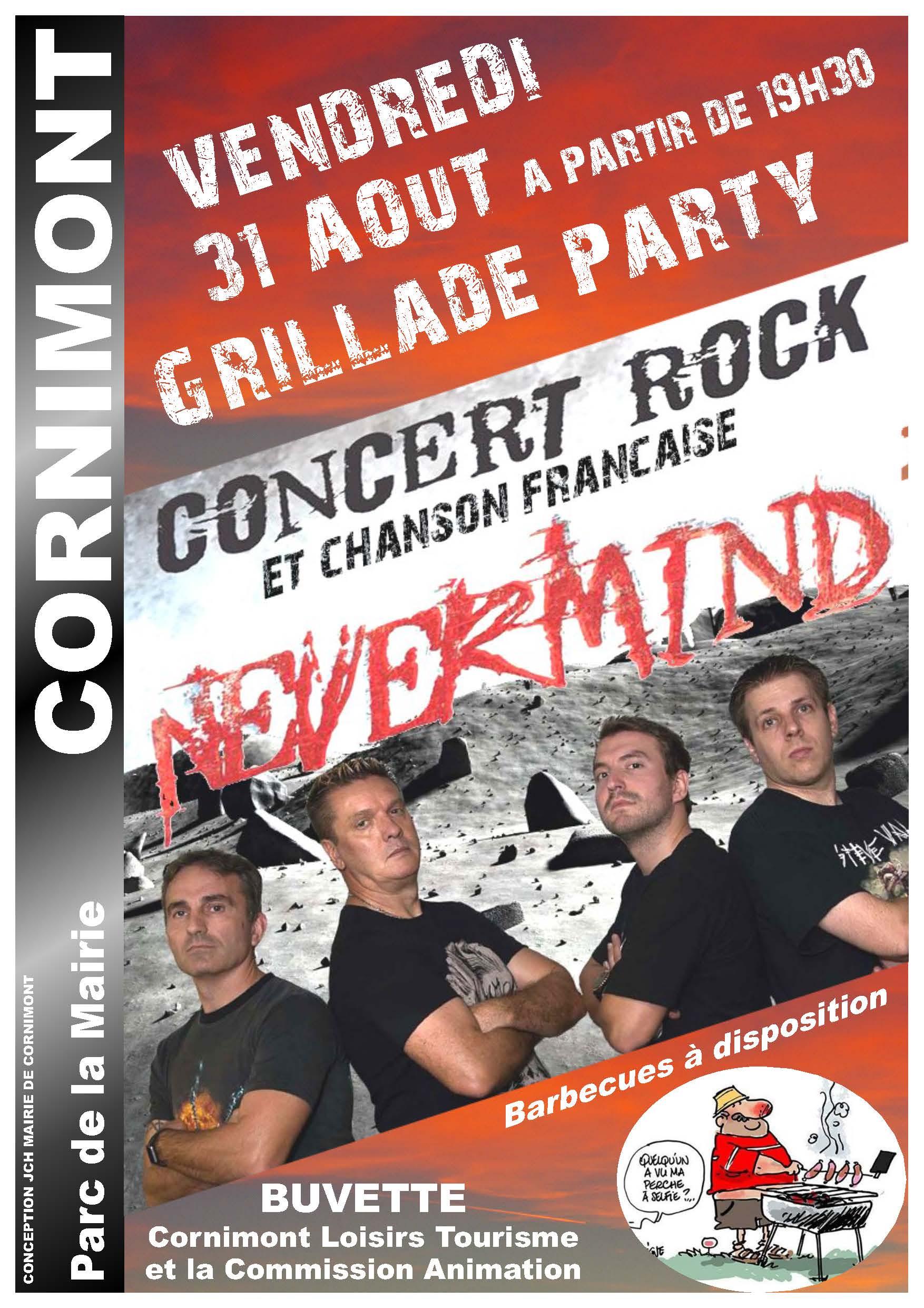 VENDREDI 31 AOUT Grillade Party Nevermind web