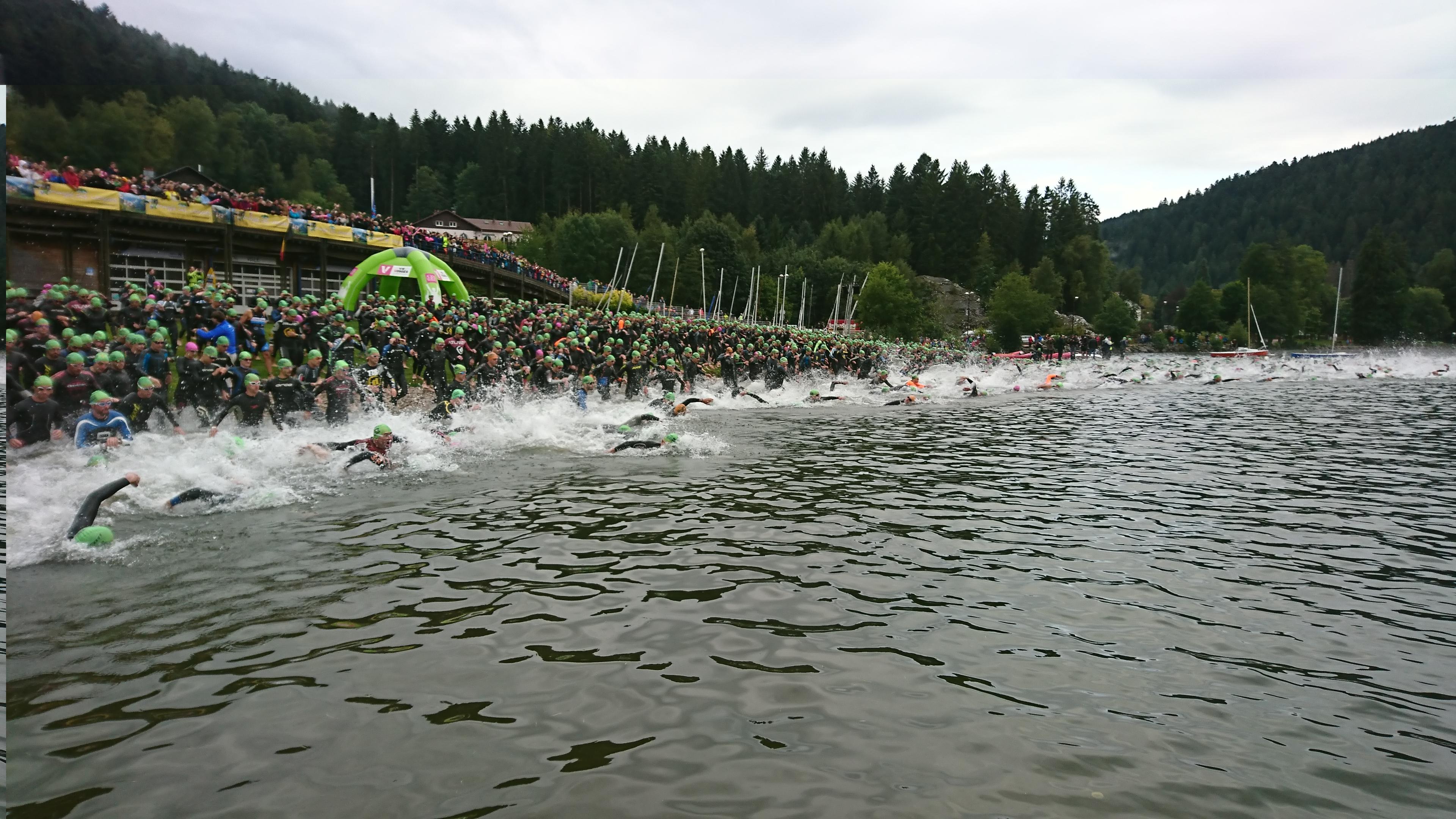 départ triathlon gérardmer XL