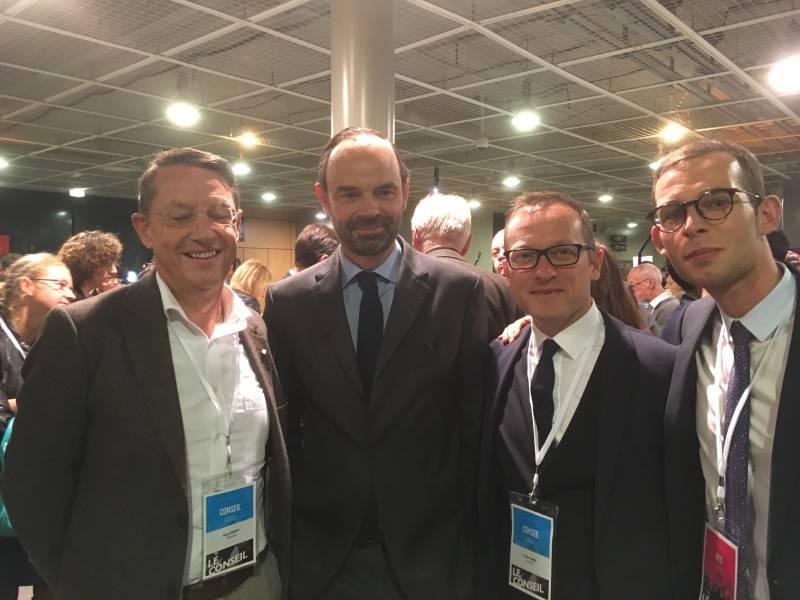 (Archive) Serge VINCENT, référent départemental, Frédéric SIMON et Gwénolé HILAIRE ont participé au premier conseil national de La République En Marche.