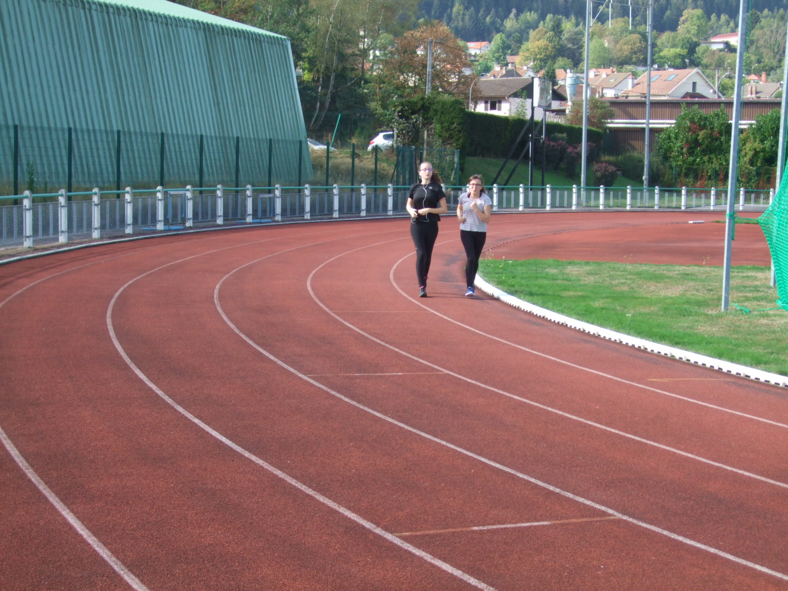 L'actuelle piste d'athlétisme de Béchamp