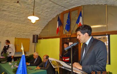 Le discours de Jean Hingray, le 4 octobre 2017 (photo Jean-Claude Olczyk)