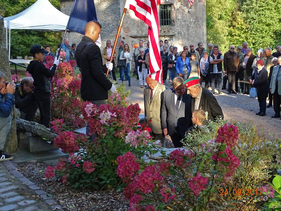 Noirgueux, lors de la cérémonie de septembre 2017
