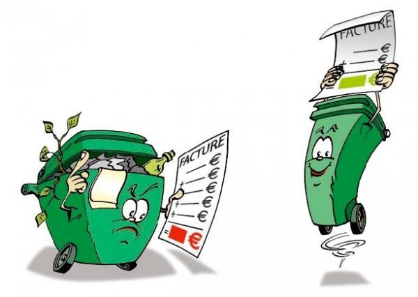 illustration collecte et coût ordures ménagères