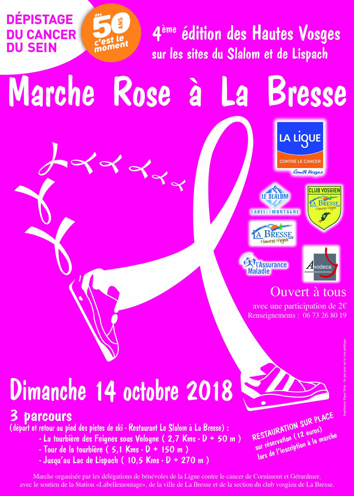 Marche rose La Bresse 2018
