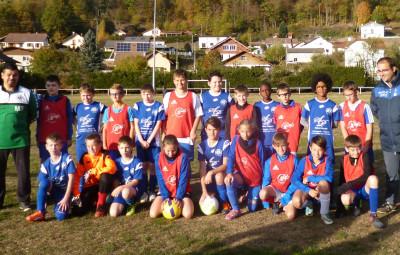 U13 du FC des Ballons et de Blainville avant leur rencontreamicale