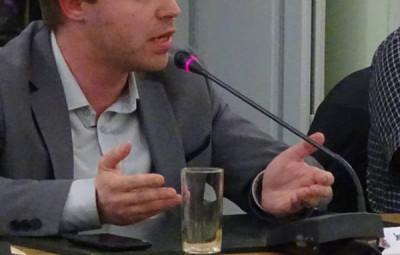 Jean-Benoît Tisserand à l'époque où il était premier opposant à Jean Hingray.