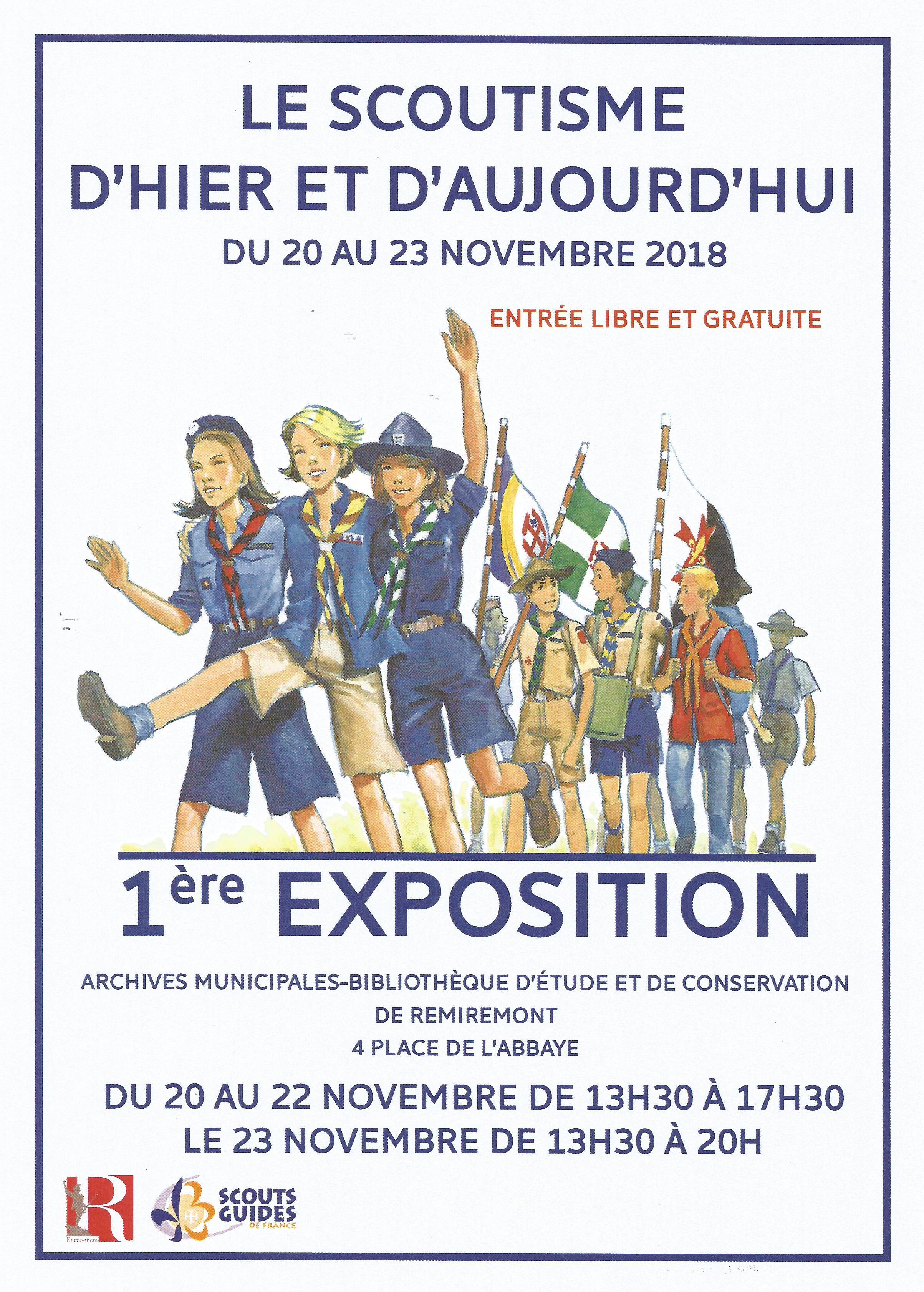 Affiche Exposition Scouts d'hier et d'aujourd'hui