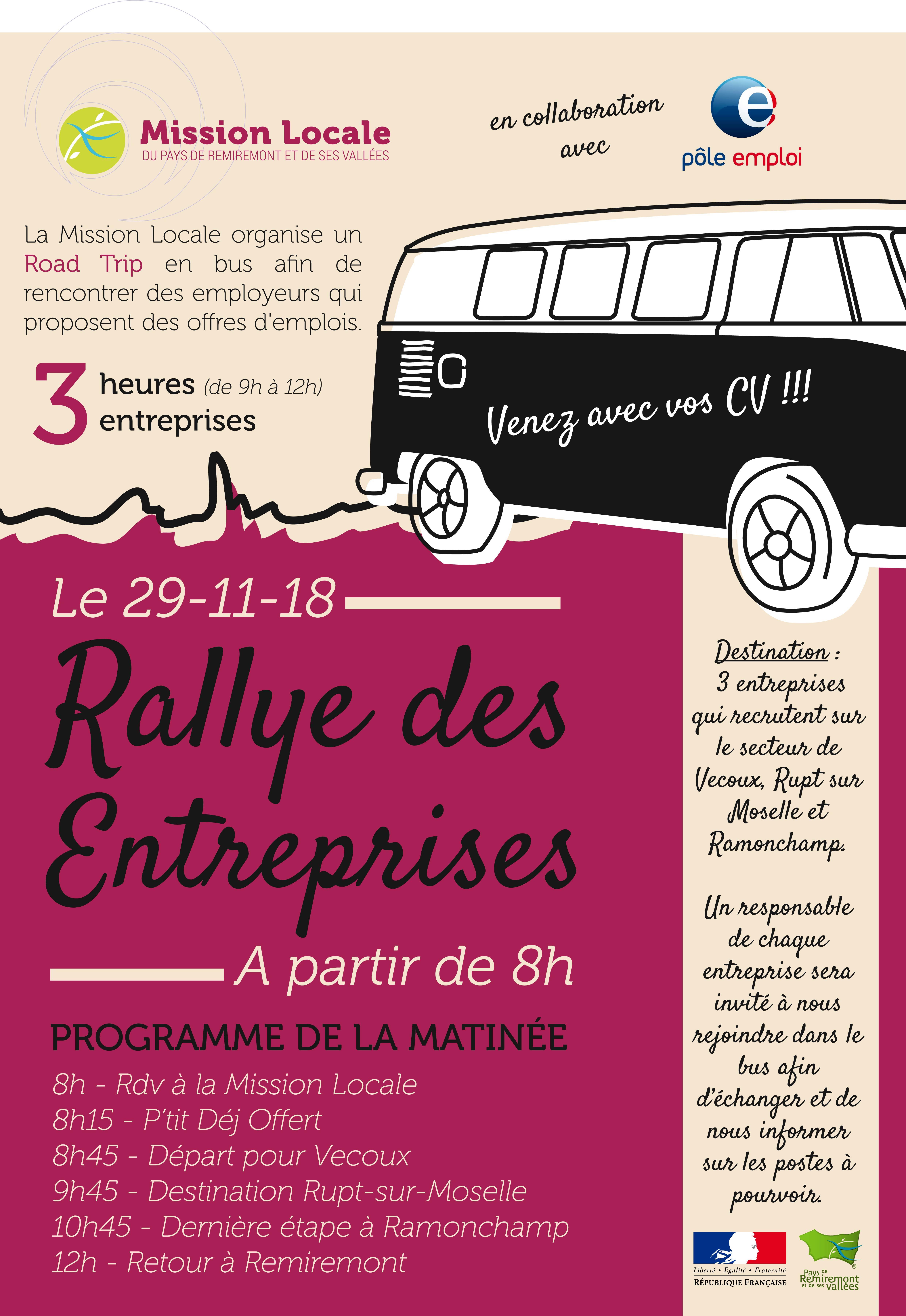Affiche Rallye des Entreprises