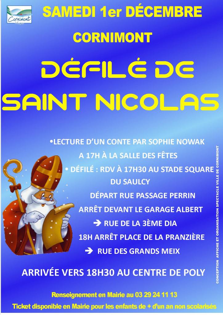 DÉFILÉ DE SAINT NICOLAS AFFICHE