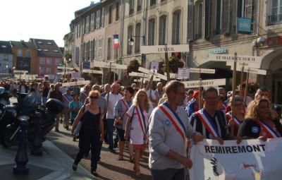Le 12 juillet dernier,  l'ADEMAT-H avait rassemblé 1.300 personnes dans les rues de Remiremont