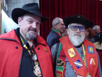 Laurent Gandloff et Claude-Louis Contoux, président et secrétaire de la fédération régionale des confréries.