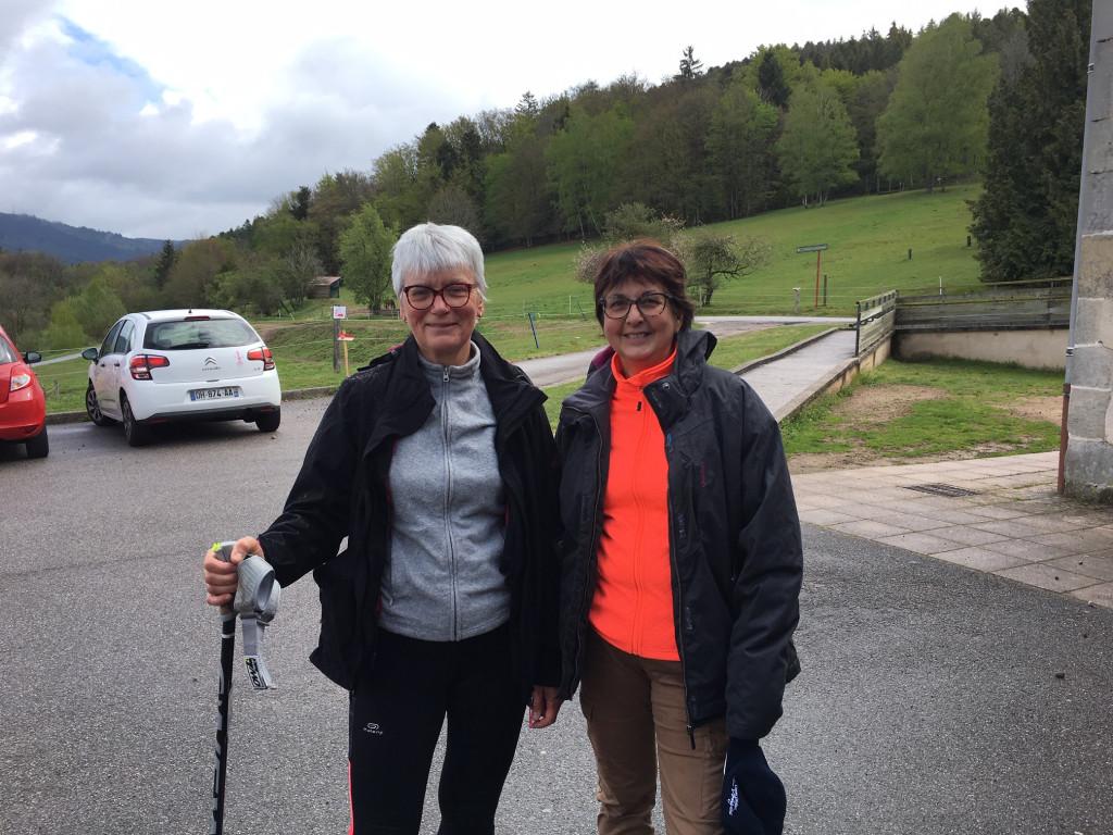 Eliane et Christine ont bouclé les 6km en 1h30.