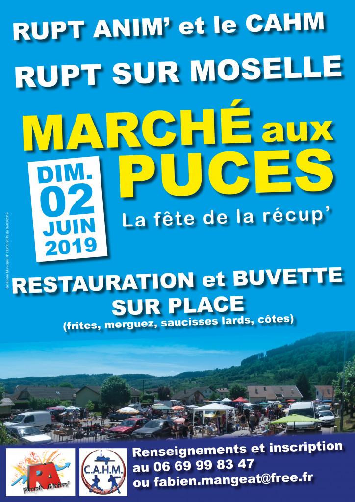 Affiche Marché aux Puces 2019