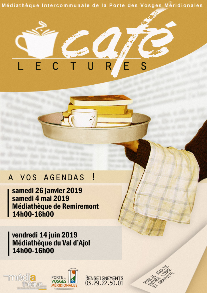 Affiche cafe lectures