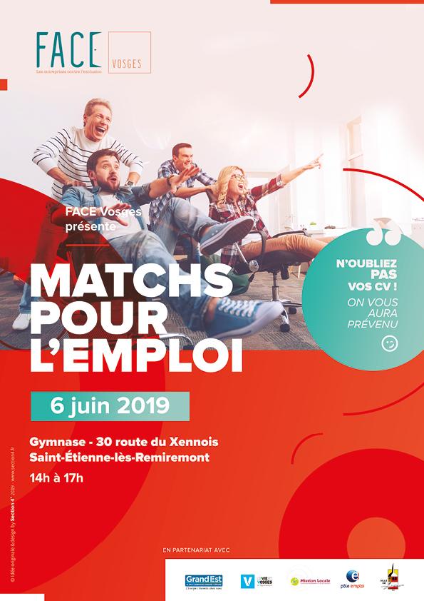 Matchs pour emploi - Face Vosges - St Etienne