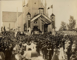 Fête nationale de l'Acadie en 1909, Shédiac (Nouveau-Brunswick)